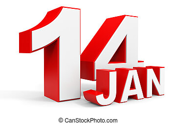 january, 背景。, 正文, 14., 白色, 3d
