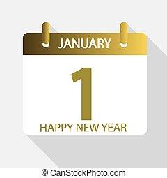 JANUARY 1 on the calendar