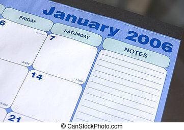 january, 2006, 日曆