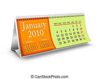 January 2010 Desktop Calendar - January 2010. Desktop ...