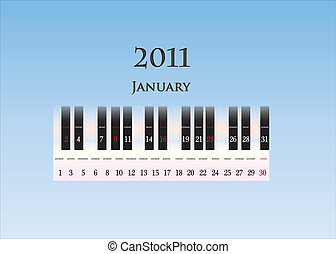 january 2011 ( piano keys )