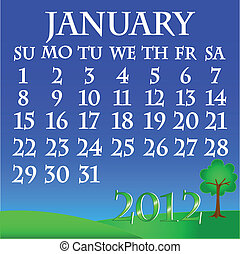 January 2012 landscape calendar