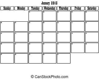 January 2013 planner
