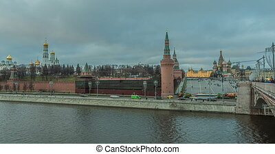 January 2020, Moscow Russia, Moscow river, evening time ...