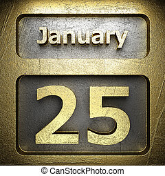 january 25 golden sign