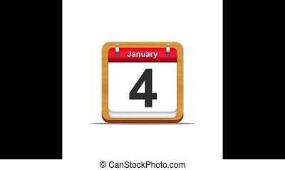 January calendar.