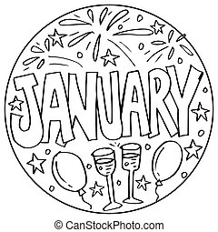 January Coloring Pages for Kids