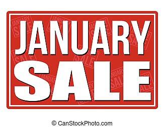 January sale sign
