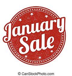 January sale stamp - January sale grunge rubber stamp on...