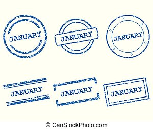January stamps