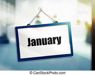 January text sign