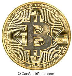 janvier, israël, 17, 2014:, haïfa, -, bitcoin, studioshot, b, blanc