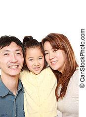 japán, család, közül, három