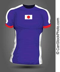 japán, futball, mez