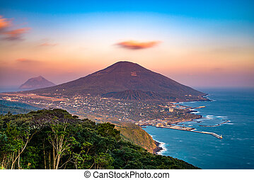 japán, hachijojima, sziget