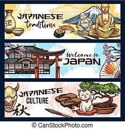japán, jelkép, közül, történelem, vallás, és, kultúra