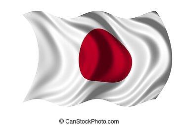 japán, nemzeti lobogó