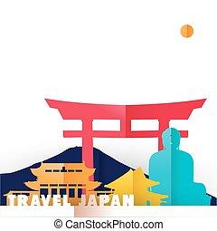 japán, utazás, világ, nyelvemlékek