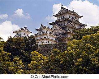 japão, himeji, -, castelo