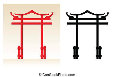 japão, portão