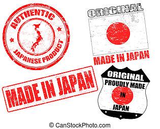 japão, selos, feito