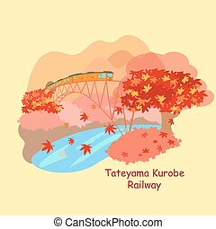 japão, tateyama, kurobe, estrada ferro
