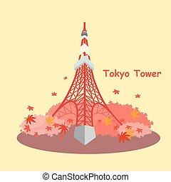japão, torre, maple, tóquio