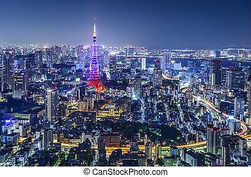 japón, contorno, tokio, ciudad