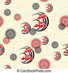 japón, floral, plano de fondo