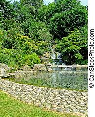 japón, jardín