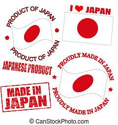 japón, producto, sellos