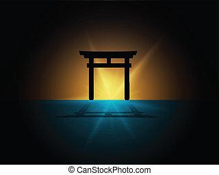 japón, puerta de torii