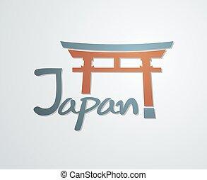japón, torii, símbolo, agradable