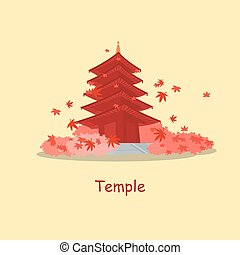 japón, tradición, templo