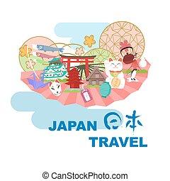 japón, viaje, elemento