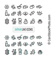Japan 2 style icons Set.