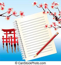 japan, aantekenboekje