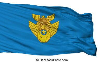 Japan Air Self Defense Force Flag Isolated Seamless Loop -...