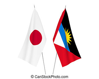 Japan and Antigua and Barbuda flags - National fabric flags ...