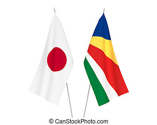 Japan and Seychelles flags - National fabric flags of Japan ...