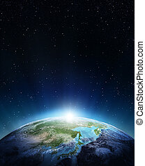 Japan and Siberia. Elements of this image furnished by NASA