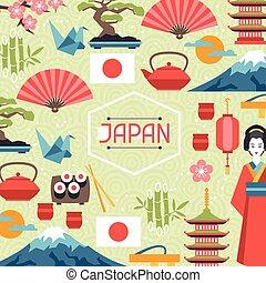 Japan background design.