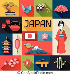 Japan background design.