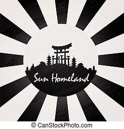 Japan background illustration