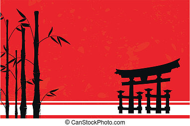 japan bamboo background4 - japan bamboo background in vector...