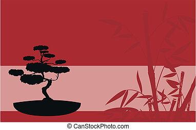 japan bamboo background5 - japan bamboo background in vector...