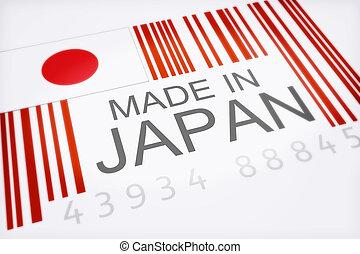 japan., code, produit, barre