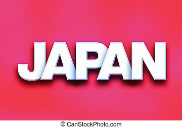 Japan Concept Colorful Word Art