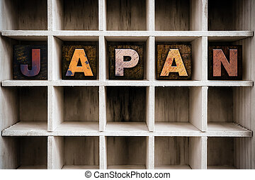 Japan Concept Wooden Letterpress Type in Draw