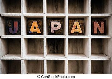 Japan Concept Wooden Letterpress Type in Draw